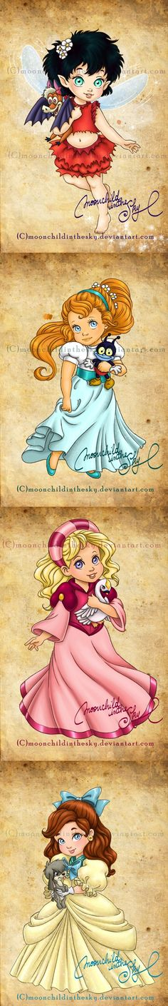I know this isn't Disney but I love these movies! My childhood 💕Non-Disney Princesses by moonchildinthesky on deviantart Crysta, Thumbelina, The Swan Princess, and Anastasia Walt Disney, Cute Disney, Disney Girls, Disney And Dreamworks, Disney Pixar, Non Disney Princesses, Disney Characters, Disney And More, Baby Cartoon