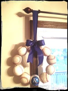 Kansas City Royals baseball wreath