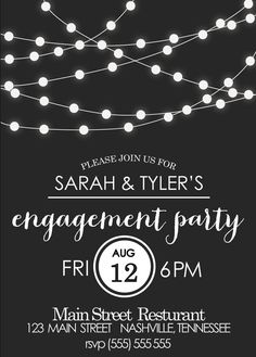 Engagement Party Invitation. Events By Vento Designs. We Go Beyond Fundraising & Corporate Events...Complete & Month-Of Wedding Services! Visit Us: www.eventsbyventodesigns.com
