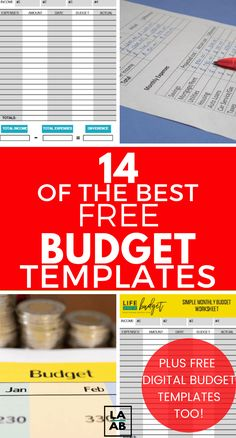finance organization The Best FREE budget templates that are … – Finance tips, saving money, budgeting planner Monthly Budget Sheet, Monthly Budget Template, Budget Sheets, Budget Planner, Budget Templates, Printable Budget, Printables, Free Printable, Budgeting Finances
