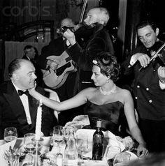 Sophia Loren  and Carlo Ponti. Undated/Uncredited Image.