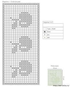 tejidos a crochet cortina o mantel Filet Crochet, Crochet Borders, Crochet Chart, Crochet Baby, Knit Crochet, Crochet Patterns, Free Cross Stitch Charts, Counted Cross Stitch Patterns, Chart Design