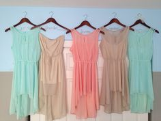 Mix & Match Pastel bridesmaid dresses for beach wedding