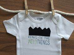 Wild Thing, King of the Wild Things, Funny Onesie, Funny Baby Boy Onesie, Wild Thing Bodysuit. $14.99, via Etsy.