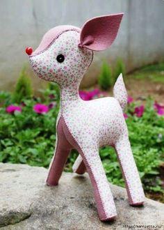 Bambi  textil . Yo no me fío mucho de esa nariz, yo la bordaría