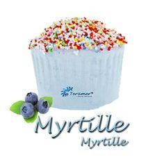 ✭ Bombe de bain muffin myrtille  - 190gr d''effervescence pour 2 bains ✭