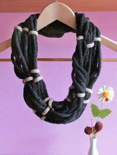 French knitting necklace.  Interesting...