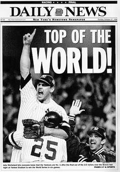 1996 Yankees winning world series newspaper