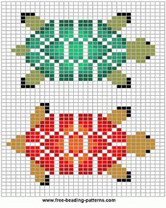 loom-beadwork-design-turtle-variations More
