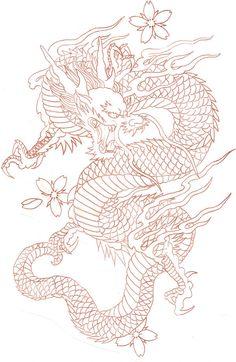 diseños de tatuajes 2019 Ladys and Genltemen, I give you a Chinese Dragon. - diseños de tatuajes 2019 Ladys and Genltemen, I give you a Chinese Dragon. I also have the coloure - Japanese Dragon Tattoos, Japanese Tattoo Art, Chinese Dragon Drawing, Red Chinese Dragon, Japanese Tattoo Designs, Neue Tattoos, Body Art Tattoos, Arabic Tattoos, Finger Tattoos