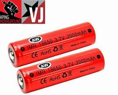 Vapor Joes - Daily Vaping Deals: EPIC DEAL - TWO AW IMR 18650 BATTERIES - $12.71