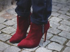 Kurt Geiger red boot ankle boots