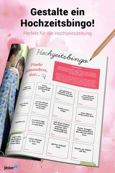 Ein Bingo in der Hochzeitszeitung ist ein toller Zeitvertreib, um den Gästen die Warterzeit zu verkürzen. Außerdem ist es eine schöne Idee, damit sich unbekannte Hochzeitsgäste einander vorstellen und ins Gespräch kommen. Spielregeln für das Hochzeitsbingo und eine Anleitung zum Selbermachen findest du in unserem Blog!