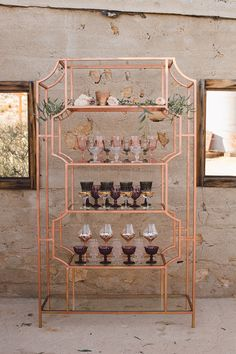 Copper, dark blush, and plum Copper And Grey, Copper And Marble, Copper Bar, Copper Decor, Copper Pipe Shelves, Copper Office, Copper House, Feminine Bedroom, Interior Design Themes