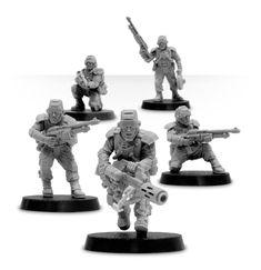 Forgeworld-Elysian Hardened veterans with shotguns-tête d-Bits