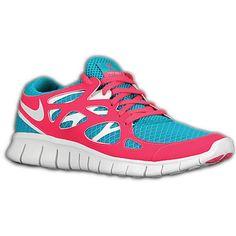 huge selection of b7758 ab2eb Nike Free Run + 2 - Women s - Running - Shoes - Turquoise White Pink  Flash Grey