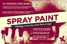 Spray paint pack by It's me simon on @creativemarket