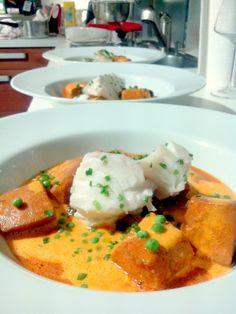 Rouille de seiche à la Sétoise et cabillaud poché... why not ? Thai Red Curry, Cooking, Ethnic Recipes, Dom Tom, Kitchen, Food, Recipes, Calamari, Seafood