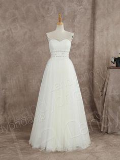 ウェディングドレス エンパイア ハートネック フロアレングス ビジューベルド 挙式 ブライダル 結婚式 B14TB0013 価格 ¥51,840