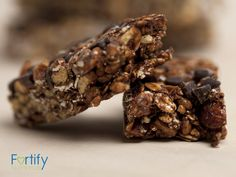 Chocolate Oat Protein Bars - healthy snack made with Protein Powder!