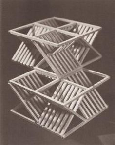 Principles of Three-Dimensional Design Wucius Wong's 1976 release, Principles of Three-Dimensional Design, is an educational book aimed at helping designers and artists wrap their heads around the physical space of objects. Geometric Sculpture, Wood Sculpture, Concept Models Architecture, Architecture Design, Origami Architecture, Modern Graphic Design, Graphic Design Inspiration, 3d Design, Design Model