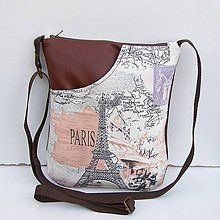 Kabelky - Hnedá kabelka Paríž - 7902194_ Drawstring Backpack, Backpacks, Fashion, Baby Sewing, Bebe, Moda, Fashion Styles, Backpack, Fashion Illustrations