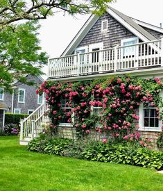 Rosy view on a gray Nantucket morning Nantucket Cottage, Cozy Cottage, Coastal Cottage, Cottage Homes, Cozy House, Cottage Style, Nantucket Beach, Nantucket Island, Coastal Style