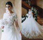 New White / Ivory Wedding Dress Bridal Gown Custom Size 6 8 10 12 14 16
