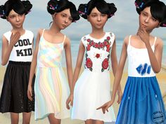 Sweet Summer Dresses by Fritzie.Lein at TSR via Sims 4 Updates