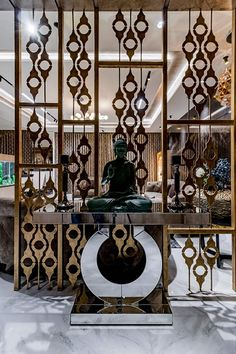 Luxuries flate: classic by associates,classic metal Living Room Partition Design, Pooja Room Door Design, Room Partition Designs, Foyer Design, Home Room Design, Flat Interior Design, Classic Interior, Decorative Metal Screen, Jaali Design