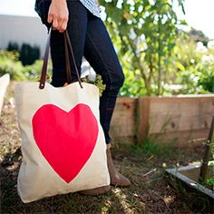Learn how to make this beautiful heart bag complete with leather straps!