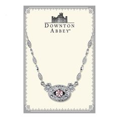 Downton Abbey Boxed Silver-Tone Lavender Crystal Necklace -- You can find out more details at the link of the image.-It is an affiliate link to Amazon. #Necklace