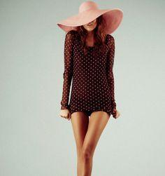Pink Floppy Straw Hat & Dress
