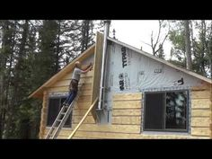 THE BACKWOODS CABIN Episode 16. Ceiling Beams and Siding. Two days Of Work In…