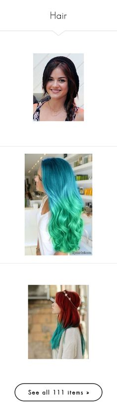 """""""Hair"""" by gosper ❤ liked on Polyvore featuring hair, lucy hale, people, hairstyles, hair styles, beauty products, haircare, hair styling tools, beauty and cabelo"""