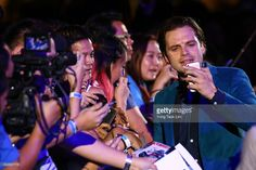 News Photo : Romanian American actor Sebastian Stan mingles...