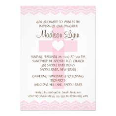 Lace Cross Baby Girl Baptism Inviation Personalized Announcements