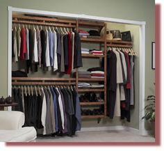 DIY built in closet plans | Red Mahoghany Do-It-Yourself Closet System