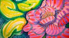 Lily Caye Caulker Belize by Lee Vanderwalker Caye Caulker Belize, Silk Painting, Greeting Cards, Lily, Hand Painted, Paintings, Wall Art, Paint, Painting Art