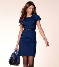 Vestido mujer manga corta biextensible Moda Mujer 47 Venca