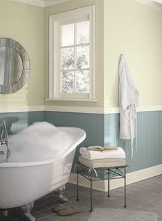 Colours  are sea star and limesickle by Benjamin Moore.