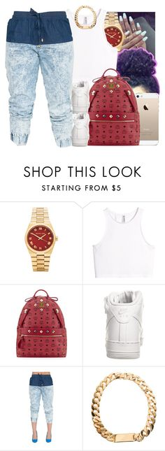 """""""18 July, 2014"""" by jamilah-rochon ❤ liked on Polyvore featuring Michael Kors, H&M, MCM and NIKE"""