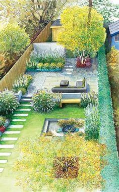 Yard Makeover Design For A Rectangular Garden A Long