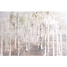 Add the calming feel of a woodland to your home with this Painted Landscape Canvas. This rustic picture features silver birch trees and is painted in neutral colours so as to complement a range of colour schemes. Perfect for adding those all-important finishing touches to your home and for teaming with the rest of our Decelerate range. <BR><BR>Our Decelerate trend is inspired by nature with natural colours and rustic charm that will bring a tranquil feel to any room in your home....