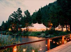 Rustic/outdoor wedding + reception site.