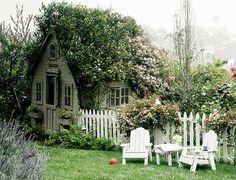 relaxing garden cottage