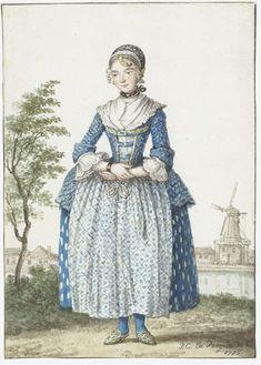 Noord-Hollands meisje, Paulus Constantijn la Fargue, 1775