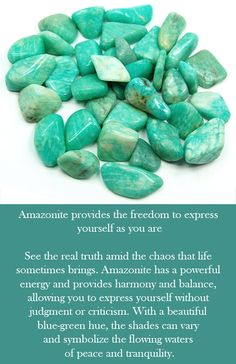 """Best of luck isn't just a coincidence, especially when you include an Amazonite crystal in your gems collection. Known as the """"hope"""" stone, the Amazonite crystal is an exceptional symptom tool, especially when you incorporate its energy into day-to-day meditation practice. Meditation Practices, Your Voice, Healing, Gems, Let It Be, Crystal, Stone, Collection, Rock"""