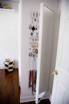 Put jewelry storage behind a Stave mirror.