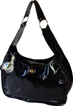 PuchiBag Ho-Beau Bag, Chocolate Patent -- See this awesome image  : Dog Carriers and Travel Products